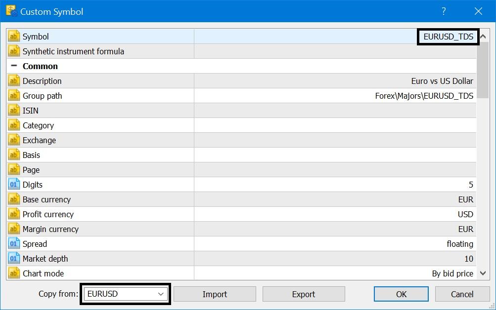 Custom Symbol Tick Data on MetaTrader Forex Crypto Import